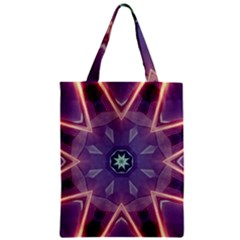 Abstract Glow Kaleidoscopic Light Zipper Classic Tote Bag