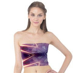 Abstract Glow Kaleidoscopic Light Tube Top