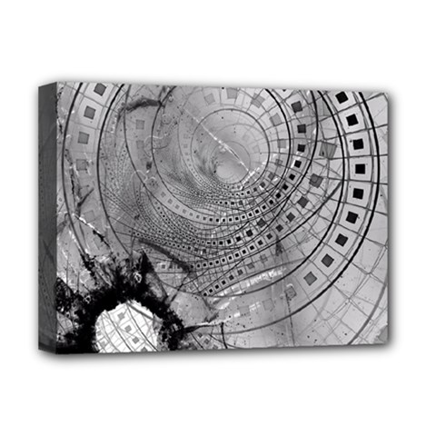 Fragmented Fractal Memories and Gunpowder Glass Deluxe Canvas 16  x 12