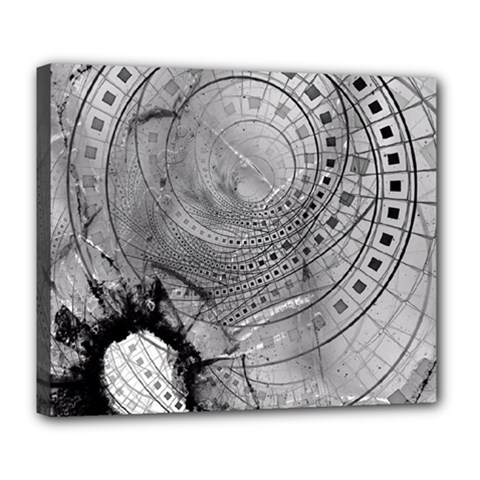 Fragmented Fractal Memories and Gunpowder Glass Deluxe Canvas 24  x 20