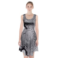 Fragmented Fractal Memories and Gunpowder Glass Racerback Midi Dress