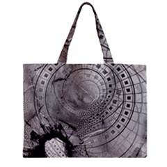 Fragmented Fractal Memories and Gunpowder Glass Medium Zipper Tote Bag