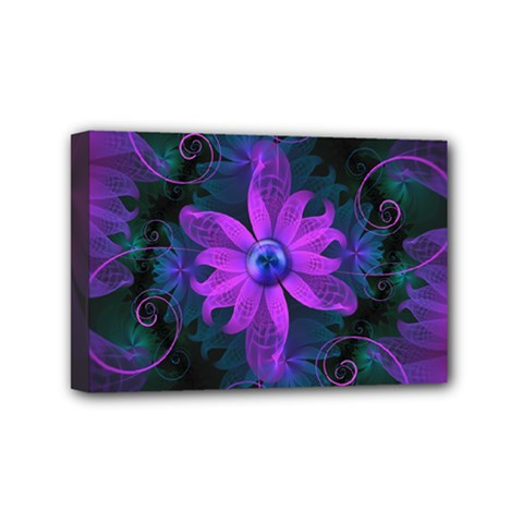 Beautiful Ultraviolet Lilac Orchid Fractal Flowers Mini Canvas 6  x 4
