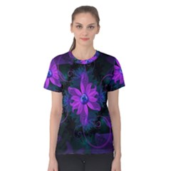 Beautiful Ultraviolet Lilac Orchid Fractal Flowers Women s Cotton Tee