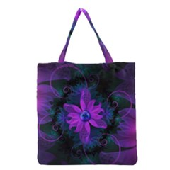 Beautiful Ultraviolet Lilac Orchid Fractal Flowers Grocery Tote Bag