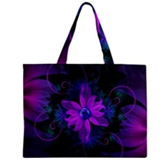 Beautiful Ultraviolet Lilac Orchid Fractal Flowers Mini Tote Bag