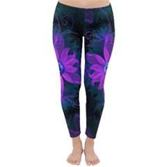 Beautiful Ultraviolet Lilac Orchid Fractal Flowers Classic Winter Leggings