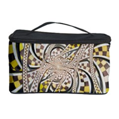 Liquid Taxi Cab, a Yellow Checkered Retro Fractal Cosmetic Storage Case
