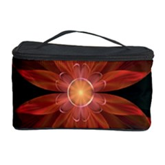 Beautiful Red Passion Flower in a Fractal Jungle Cosmetic Storage Case