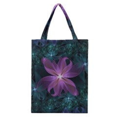 Pink and Turquoise Wedding Cremon Fractal Flowers Classic Tote Bag