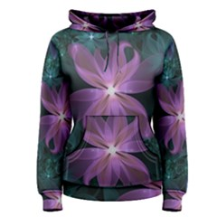 Pink And Turquoise Wedding Cremon Fractal Flowers Women s Pullover Hoodie
