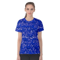 Glossy Abstract Blue Women s Cotton Tee