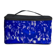 Glossy Abstract Blue Cosmetic Storage Case