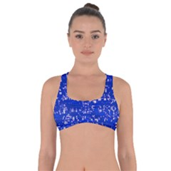 Glossy Abstract Blue Got No Strings Sports Bra