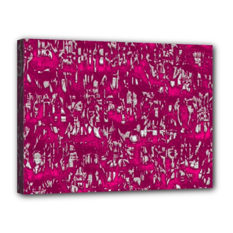 Glossy Abstract Pink Canvas 16  x 12