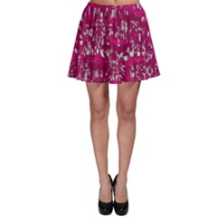 Glossy Abstract Pink Skater Skirt