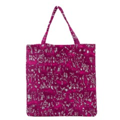 Glossy Abstract Pink Grocery Tote Bag