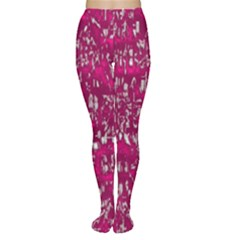 Glossy Abstract Pink Women s Tights