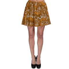 Glossy Abstract Orange Skater Skirt