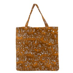 Glossy Abstract Orange Grocery Tote Bag