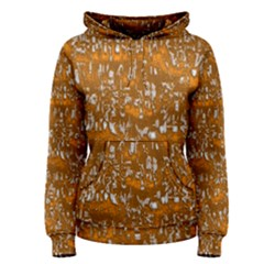 Glossy Abstract Orange Women s Pullover Hoodie