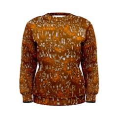 Glossy Abstract Orange Women s Sweatshirt