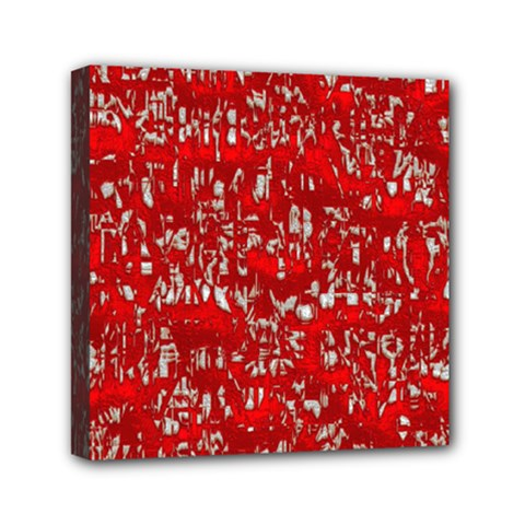 Glossy Abstract Red Mini Canvas 6  x 6