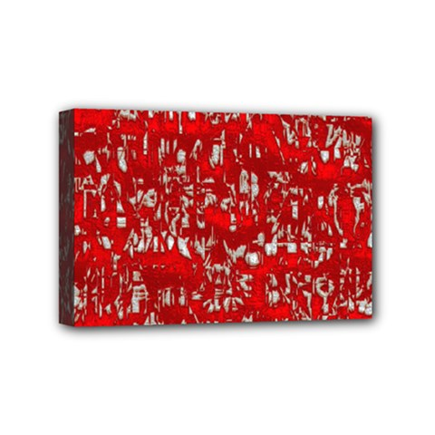 Glossy Abstract Red Mini Canvas 6  x 4