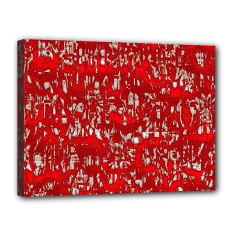 Glossy Abstract Red Canvas 16  x 12