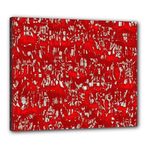 Glossy Abstract Red Canvas 24  x 20
