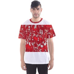 Glossy Abstract Red Men s Sports Mesh Tee