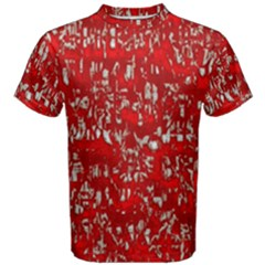 Glossy Abstract Red Men s Cotton Tee