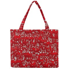 Glossy Abstract Red Mini Tote Bag