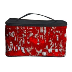 Glossy Abstract Red Cosmetic Storage Case