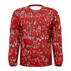 Glossy Abstract Red Men s Long Sleeve Tee
