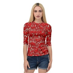 Glossy Abstract Red Quarter Sleeve Tee