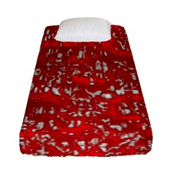 Glossy Abstract Red Fitted Sheet (Single Size)