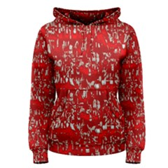 Glossy Abstract Red Women s Pullover Hoodie