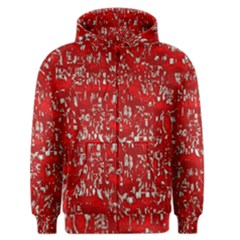 Glossy Abstract Red Men s Zipper Hoodie
