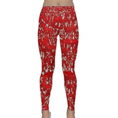 Glossy Abstract Red Classic Yoga Leggings