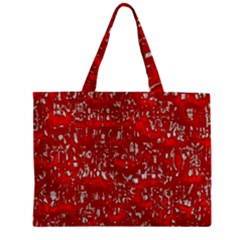 Glossy Abstract Red Zipper Mini Tote Bag