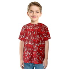 Glossy Abstract Red Kids  Sport Mesh Tee