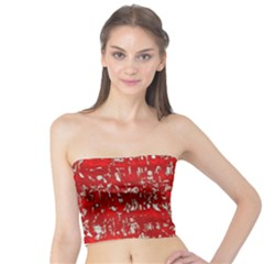 Glossy Abstract Red Tube Top