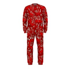 Glossy Abstract Red OnePiece Jumpsuit (Kids)