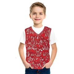 Glossy Abstract Red Kids  SportsWear