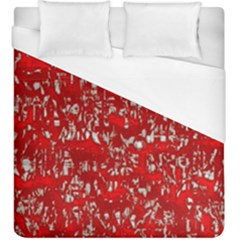 Glossy Abstract Red Duvet Cover (King Size)