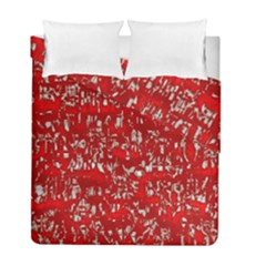 Glossy Abstract Red Duvet Cover Double Side (Full/ Double Size)