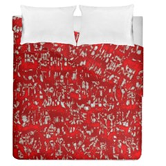 Glossy Abstract Red Duvet Cover Double Side (Queen Size)
