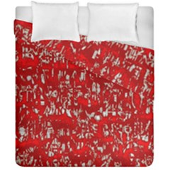 Glossy Abstract Red Duvet Cover Double Side (California King Size)