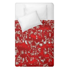 Glossy Abstract Red Duvet Cover Double Side (Single Size)